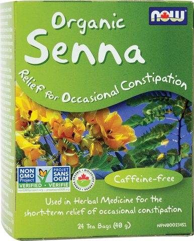 Organic Senna Tea - 24bags - Now - Health & Body Nutrition