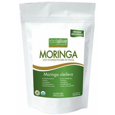 Organic Moringa Leaf Powder - 228g - Rootalive - Health & Body Nutrition