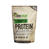 Sprouted Vegan Protein Natural Chocolate - 1kg - Iron Vegan - Health & Body Nutrition