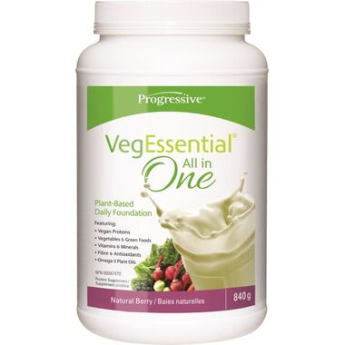 VegEssential All-In-One Protein Natural Berry - 840g - Progressive - Health & Body Nutrition