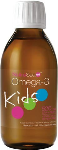 NutraSea Omega-3 Kids Bubblegum - 200ml - Nature's Way - Health & Body Nutrition