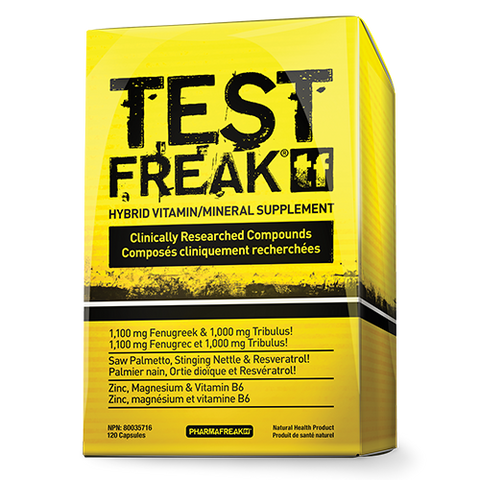Test Freak - 120caps - PharmaFreak - Health & Body Nutrition