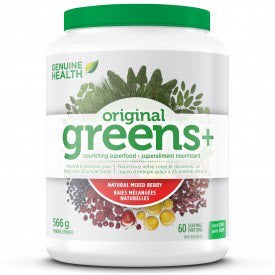 Original Greens+ Natural Mixed Berry Flavour - 566g - Genuine Health - Health & Body Nutrition