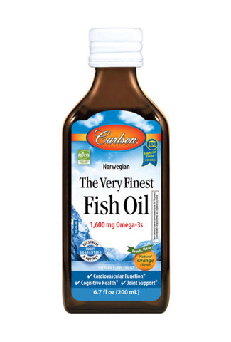 The Very Finest Fish Oil 800mg EPA 500mg DHA - Orange Flavoured - 500ml - Carlson - Health & Body Nutrition