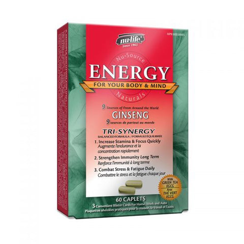 Energy - 60caps - NuLife - Health & Body Nutrition
