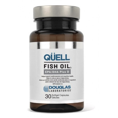 QÜELL Fish Oil EPA/DHA Plus D - 30gels - Douglas Labratories - Health & Body Nutrition