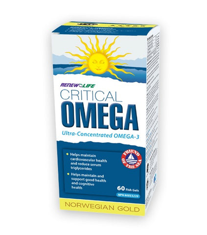 Norwegian Gold Critical Omega - 60gels - Renew Life - Health & Body Nutrition