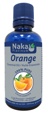 Orange Essential Oil - 50ml - Naka - Health & Body Nutrition