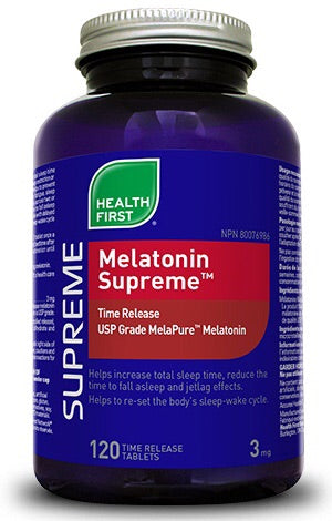 Melatonin Supreme 3mg - 60tabs - Health First - Health & Body Nutrition