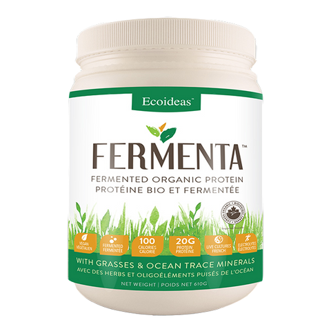 Fermenta Fermented Organic Protein - With Grasses & Ocean Trace Minerals -  Ecoideas - Health & Body Nutrition