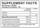 Fish Oil - 90gels - Musclepharm - Health & Body Nutrition