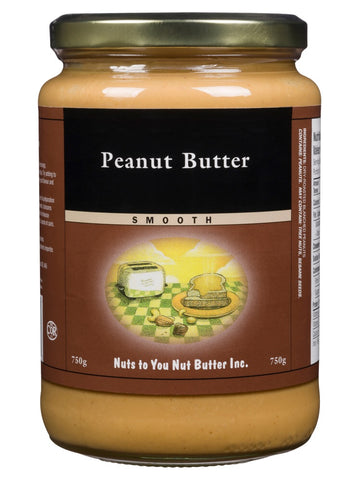 Smooth Peanut Butter - 500g - Nuts To You Nut Butter - Health & Body Nutrition