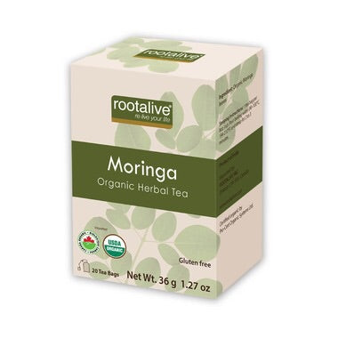 Organic Moringa Tea - 20bags - Rootalive - Health & Body Nutrition