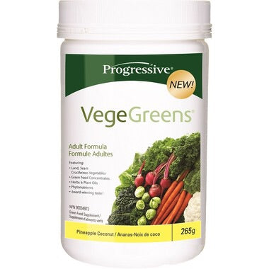 VegeGreens Pineapple Coconut - 265g - Progressive - Health & Body Nutrition