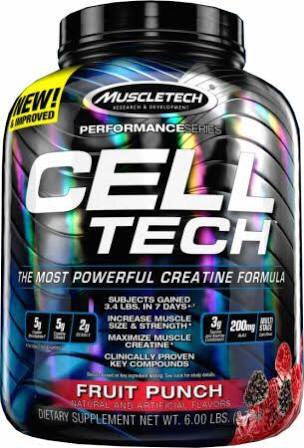 Cell-Tech - Blue Raspberry 6LB - MuscleTech - Health & Body Nutrition