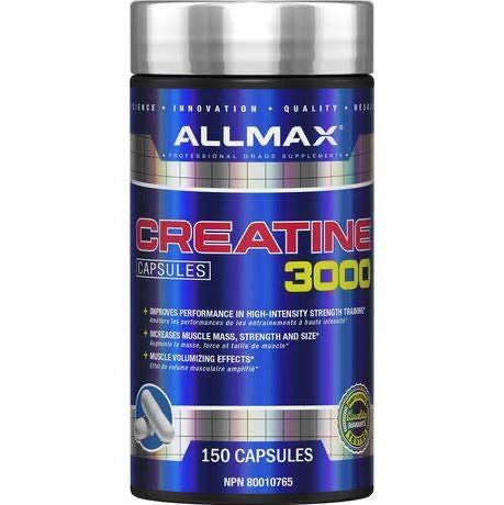 Creatine Capsules 3000 - 150caps - Allmax - Health & Body Nutrition