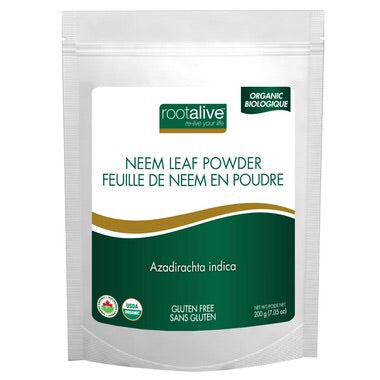 Organic Neem Leaf Powder - 200g - Rootalive - Health & Body Nutrition