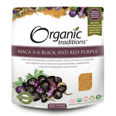 Organic Traditions Maca X-6 Powder 6:1 - 150g -Organic Traditions - Health & Body Nutrition
