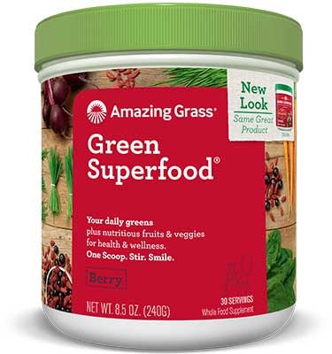 Green Superfood - Berry Flavoured - Amazing Grass - Health & Body Nutrition