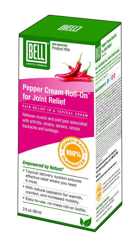 Pepper Cream Roll-On For Joint Relief - 90ml - Bell - Health & Body Nutrition