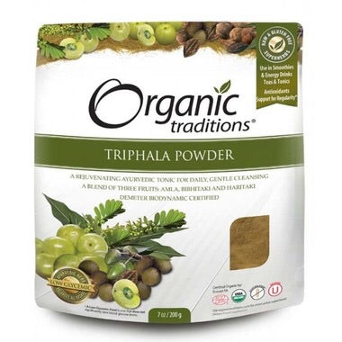 Triphala Powder - 200g - Organic Traditions - Health & Body Nutrition