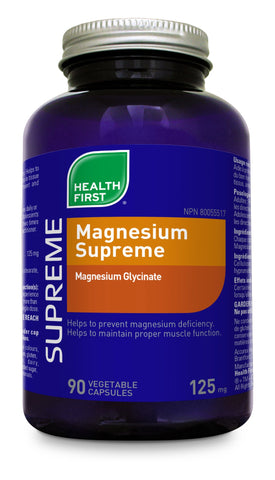 Magnesium Supreme - 180vcaps - Health First - Health & Body Nutrition