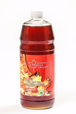 100% Pure Organic Amber Maple Syrup - 1L - Canadian Heritage Organics - Health & Body Nutrition