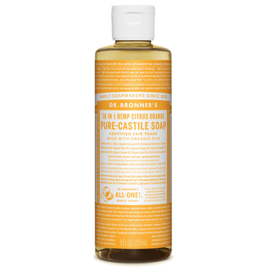 Pure Castile Liquid Soap - 237ml - Dr. Bronner's - Health & Body Nutrition