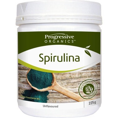 Spirulina Powder - 225g - Progresssive - Health & Body Nutrition