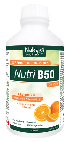 Nutri B50 - 500ml - Natural Orange Flavour - Naka - Health & Body Nutrition