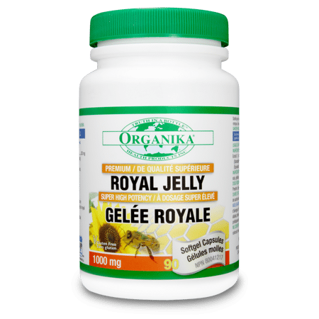Royal Jelly 1000mg - 90gels - Organika - Health & Body Nutrition