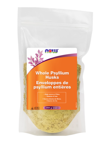 Whole Psyllium Husk Powder - 454g - Now - Health & Body Nutrition