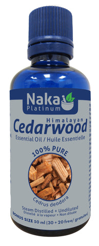 Cedarwood Essential Oil - 50ml - Naka - Health & Body Nutrition