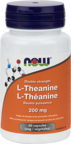 L-Theanine - 200mg - 60vcaps - Now - Health & Body Nutrition