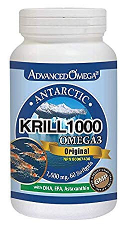 Krill Oil 1000mg- Advanced Omega - 60 softgels - Health & Body Nutrition