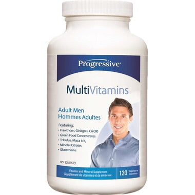 MultiVitamins Men - 120vcaps - Progressive - Health & Body Nutrition