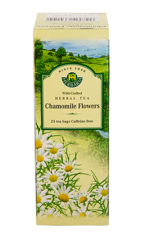 Chamomile Flowers Herbal Tea - 25bags - Herbaria - Health & Body Nutrition