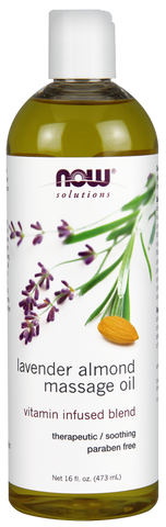 Lavender Almond Massage Oil - 473ml - Now