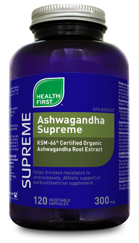 Ashwagandha Supreme 300mg - 120vcaps - Health First - Health & Body Nutrition