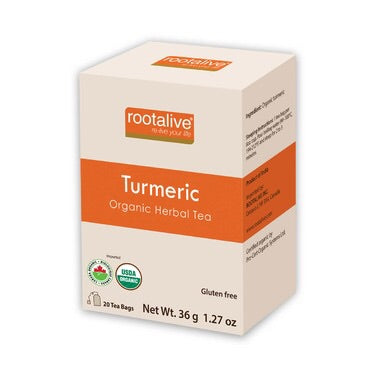 Organic Turmeric Tea - 20bags - Rootalive - Health & Body Nutrition