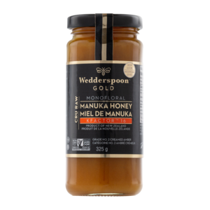 Gold Raw MANUKA Honey KFactor 16 - 325g - Wedderspoon - Health & Body Nutrition