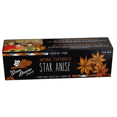 Natural Toothpaste - Star Anise - 75ml - Green Beaver - Health & Body Nutrition