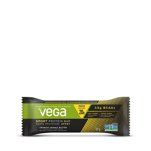 Sport Protein Bars - Box (12x70g) - Crunchy Peanut Butter - Vega - Health & Body Nutrition
