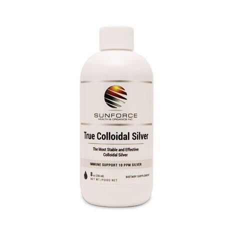 True Collodial Silver 10 PPM - 8oz - Sun Force - Health & Body Nutrition