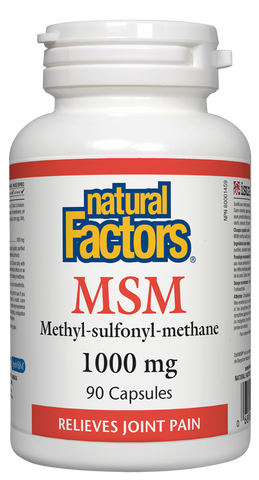 MSM 1000mg - 90caps - Natural Factors - Health & Body Nutrition