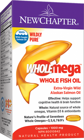Wholemega™ Whole Fish Oil - 120 softgels  - New Chapter
