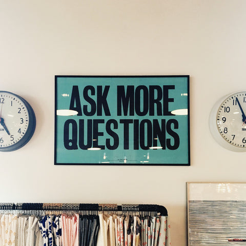 "onebunny careers ""ask more questions"" poster"