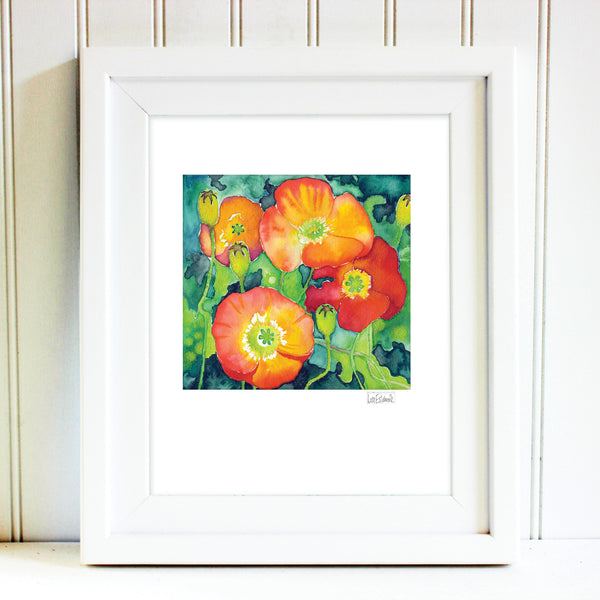 Signed California Poppy Print