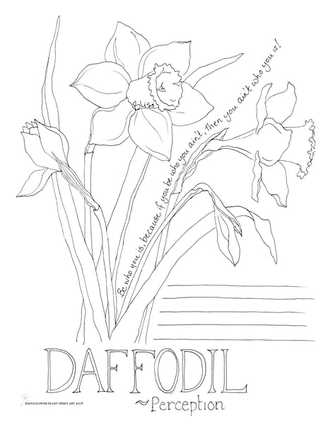 Daffodil (Perception) Coloring Page