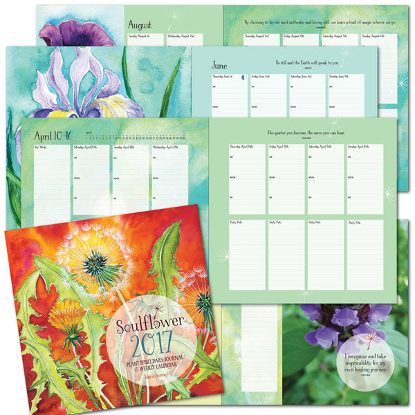 Soulflower 2017 Plant Spirit Journal & Calendar